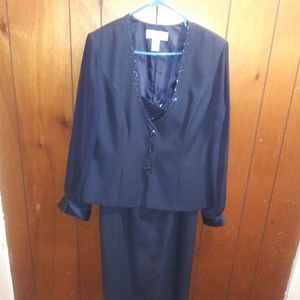 JR Nites formal dress and top sz 14